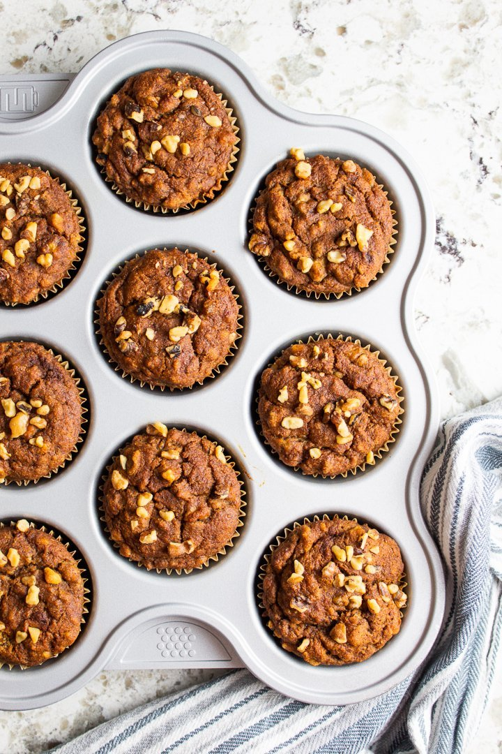 AIP Banana Muffins top view.