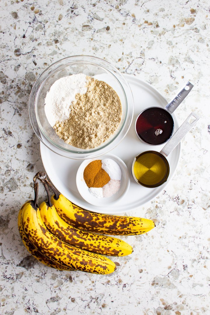 AIP Banana Muffins ingredients.