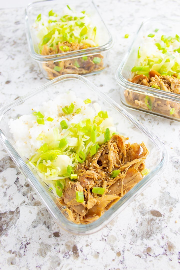 Korean Chicken Meal Prep Containers