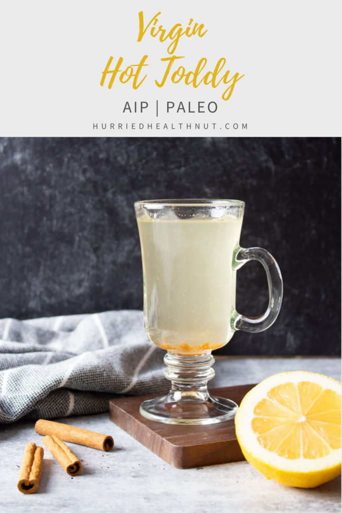 This Spiced Honey Lemon Tea recipe is cozy in a cup! Serve in a mug and curl up by the fire, or serve in a fancy glass for a virgin hot toddy that is AIP and Paleo-friendly. #spicedhoneylemontea #honeylemontea #virginhottoddy #hottoddy #aip #paleo